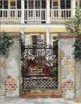 Click for more details of Ironwork Gate (cross stitch) by Barbara & Cheryl