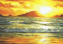 Click for more details of Island Sunset (cross stitch) by Kustom Krafts