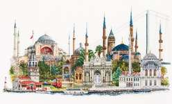 Click for more details of Istanbul (cross-stitch kit) by Thea Gouverneur