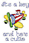 Click for more details of It's a Baby (cross-stitch pattern) by Sue Hillis Designs