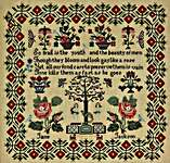Click for more details of Jane Jackson c 1820 - 40 (cross stitch) by Hands Across the Sea Samplers