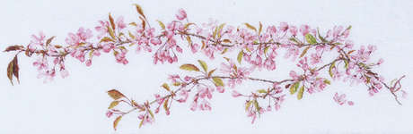 Click for more details of Japanese Cherry Blossom (cross-stitch kit) by Thea Gouverneur