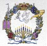 Click for more details of Jewish Designs (cross-stitch pattern) by Graphworks International