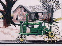 Click for more details of John Deere Tractor Model G (cross stitch) by Puckerbush Inc.