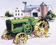 Click for more details of John Deere Tractor No. 9 (cross-stitch pattern) by Puckerbush Inc.