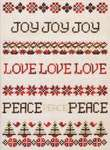 Click for more details of Joy - Love - Peace (cross-stitch) by Stoney Creek
