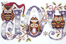 Click for more details of Joyful Owls (cross-stitch pattern) by Stoney Creek