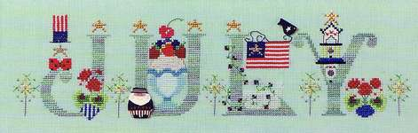 Click for more details of July (cross-stitch) by The Cross-Eyed Cricket