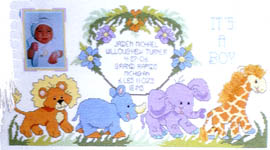 Click for more details of Jungle Babies (cross-stitch pattern) by Stoney Creek