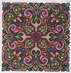 Click for more details of Just Rosy (cross-stitch pattern) by Ink Circles