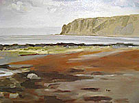 Click for more details of Kildonan Head  Arran (oil on canvas) by Yvonne Healy