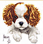 Click for more details of King Charles Puppy (cross-stitch) by Vervaco
