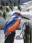 Click for more details of Kingfisher (long-stitch) by Sue Dakin