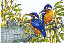 Click for more details of Kingfishers (cross stitch) by Eva Rosenstand