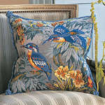 Click for more details of Kingfishers (tapestry) by Glorafilia