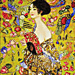Click for more details of Klimt - Lady with a Fan (cross-stitch kit) by Riolis