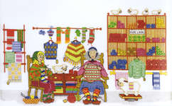 Click for more details of Knitters (cross-stitch kit) by Royal Paris