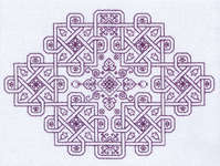 Click for more details of Knot Garden (blackwork kit) by Classic Embroidery