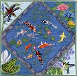 Click for more details of Koi Pond (cross-stitch pattern) by Pegasus