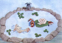Click for more details of Koi Pond (cross-stitch) by X's & Oh's