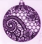 Click for more details of Lace Ornament (stamps) by Deep Red