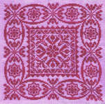 Click for more details of Lacey Pinks (cross-stitch pattern) by Debbie Draper Designs