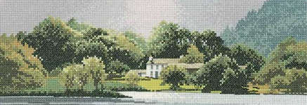 Click for more details of Lakeside House (cross stitch) by John Clayton