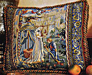 Click for more details of Lancelot and Guinevere (tapestry) by Glorafilia