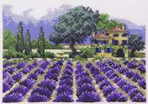 Click for more details of Lavender Farm (cross-stitch kit) by Permin of Copenhagen