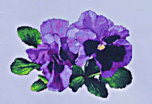 Click for more details of Lavender Pansies (cross-stitch pattern) by The Silver Lining