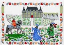 Click for more details of Le Jardin Medieval (cross-stitch kit) by Barbara Thompson