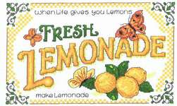 Click for more details of Lemonade (cross stitch) by Imaginating