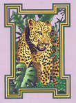 Click for more details of Leopard (cross stitch) by Mike Vickery