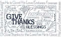 Click for more details of Let's be Thankful (cross-stitch pattern) by Imaginating