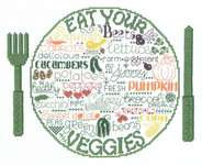 Click for more details of Let's Eat Veggies (cross-stitch) by Imaginating