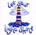 Click for more details of Let your Light Shine (cross-stitch) by Cinnamon Cat