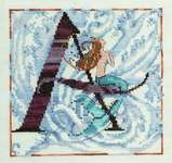 Click for more details of Letters from Mermaids - A (cross stitch) by Nora Corbett