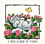 Click for more details of Life's a bed of roses (cross-stitch kit) by Peter Underhill
