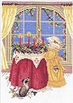 Click for more details of Lighting Christmas Candles (cross-stitch kit) by Eva Rosenstand