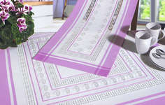 Click for more details of Lilac Hardanger Flowers Table Toppers (hardanger kit) by Rico Design