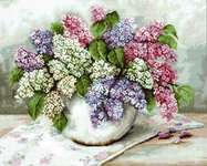 Click for more details of Lilacs in a Vase (cross stitch) by Luca - S