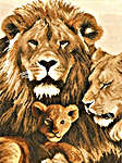 Click for more details of Lion Family (cross-stitch kit) by Lanarte