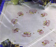 Click for more details of Little Angels Table Centre (embroidery kit) by Permin of Copenhagen