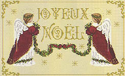 Click for more details of Little Christmas Angels (cross-stitch pattern) by Passione Ricamo