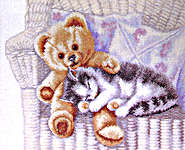 Click for more details of Little Friends (cross-stitch kit) by Permin of Copenhagen