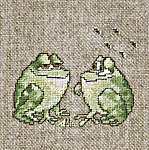 Click for more details of Little Frogs (cross-stitch kit) by Lanarte