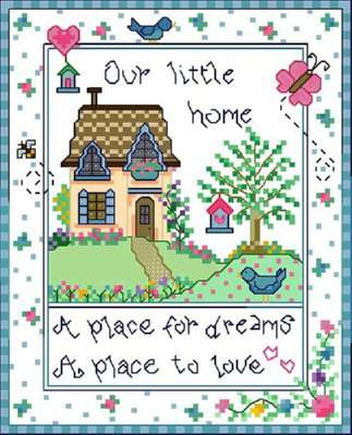 Click for more details of Little Home (cross-stitch) by Designs by Cathy