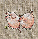 Click for more details of Little Pigs (cross-stitch) by Lanarte