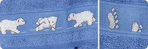 Click for more details of Little Polar Bears (cross-stitch pattern) by Rico Design
