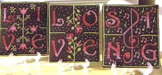 Click for more details of Live - Love - Sing (cross stitch) by New York Dreamer